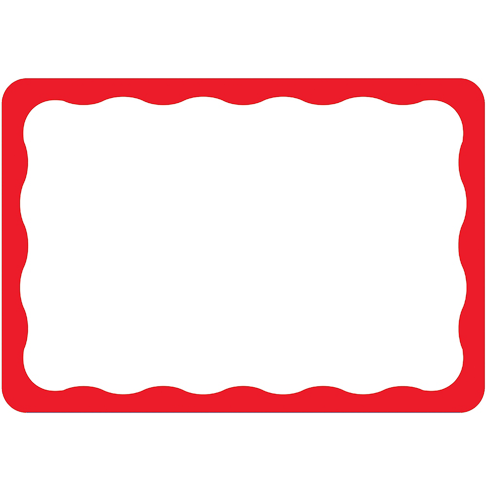 red border name tags 100ct party city