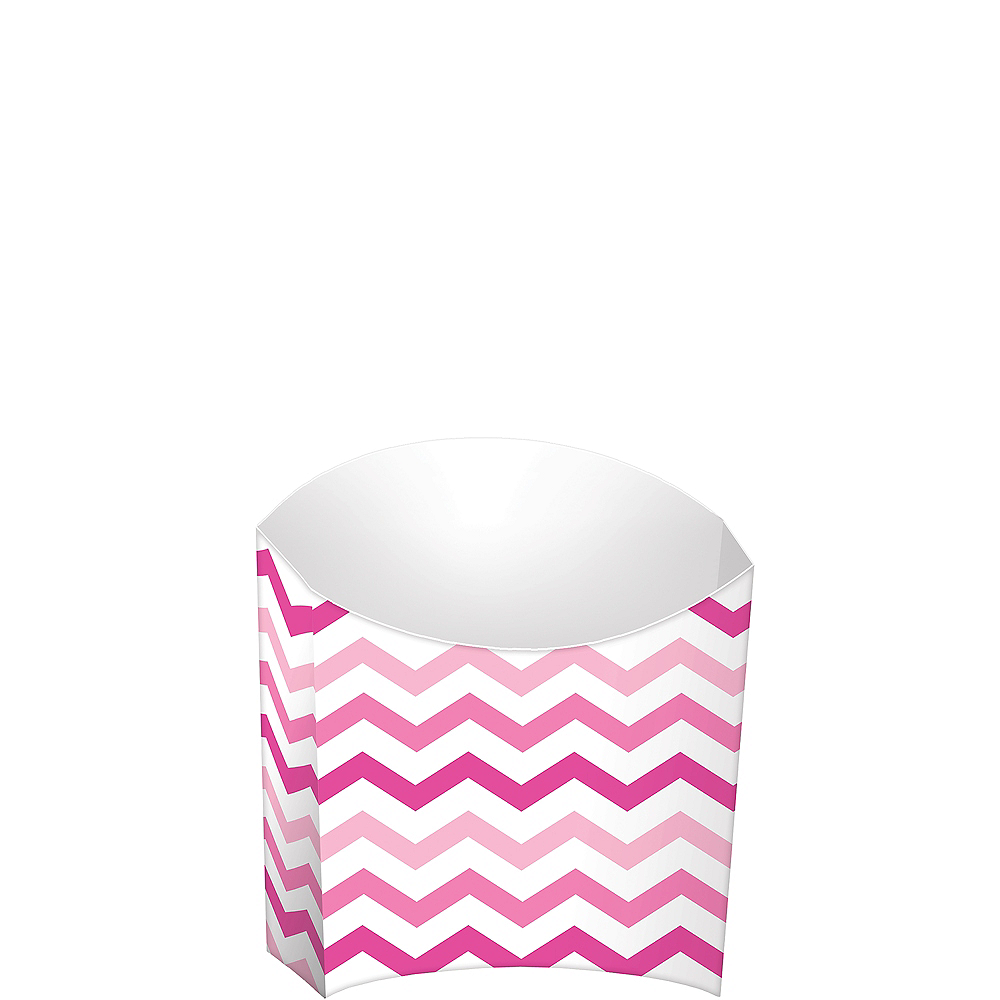 Pink Chevron French Fry Boxes 24ct Image #1
