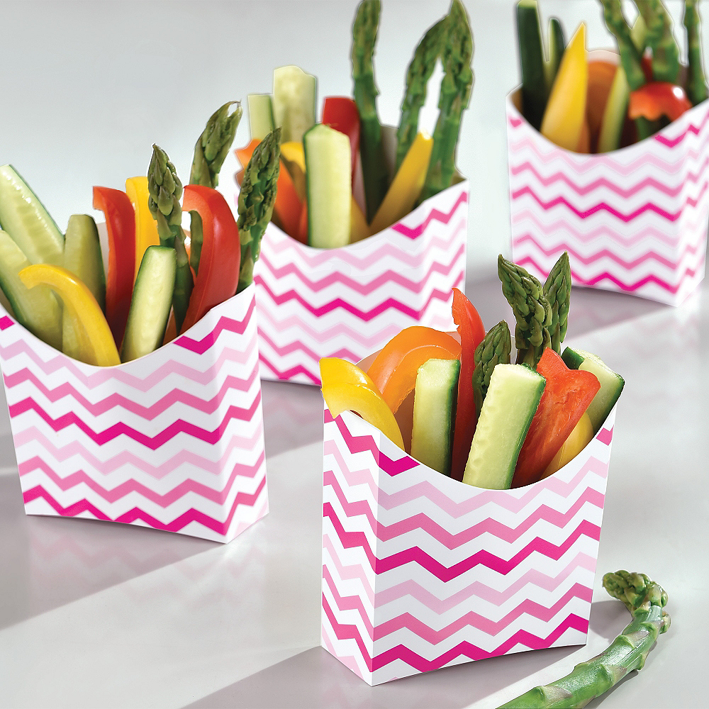 Pink Chevron French Fry Boxes 24ct Image #2