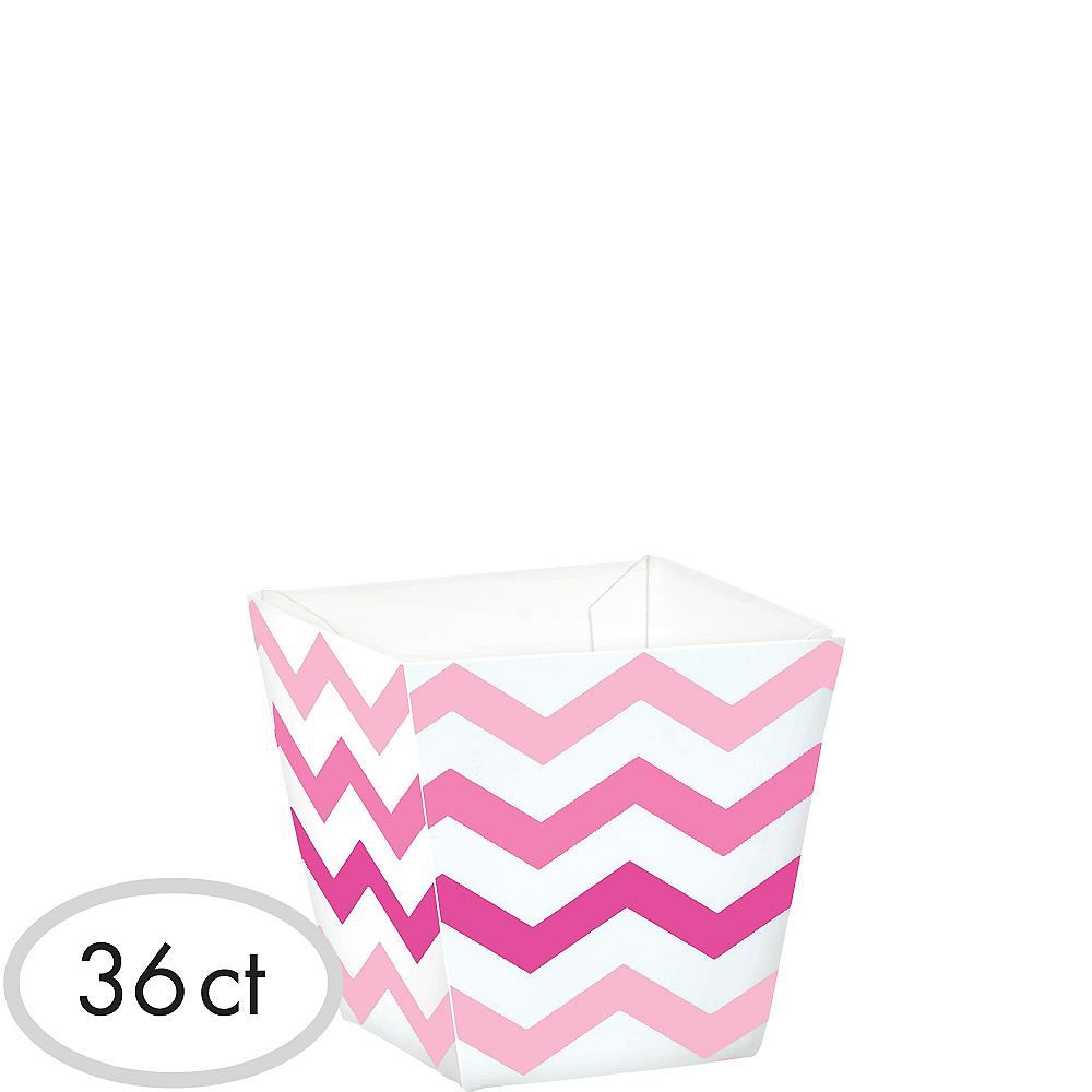 Mini Pink Chevron Cubed Bowls 36ct Image #1