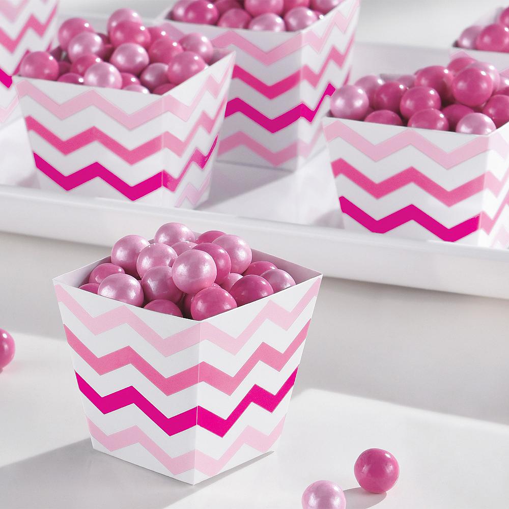 Mini Pink Chevron Cubed Bowls 36ct Image #2