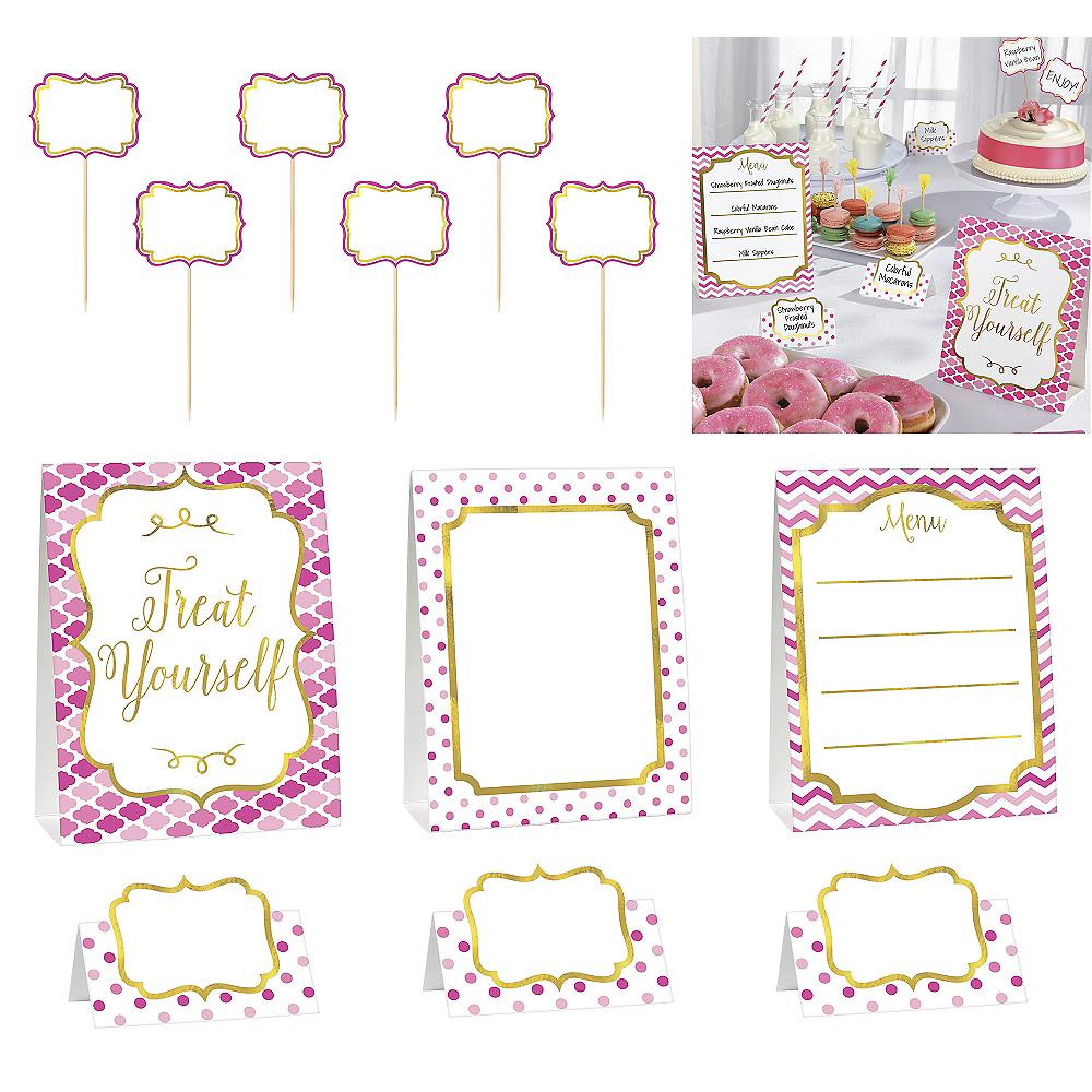 Pink Buffet Decorating Kit 12pc Image #1