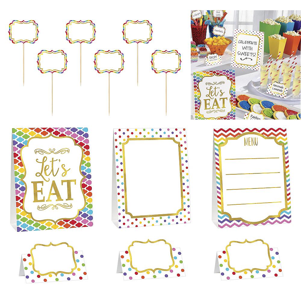 Bright Rainbow Buffet Decorating Kit 12pc Image #1