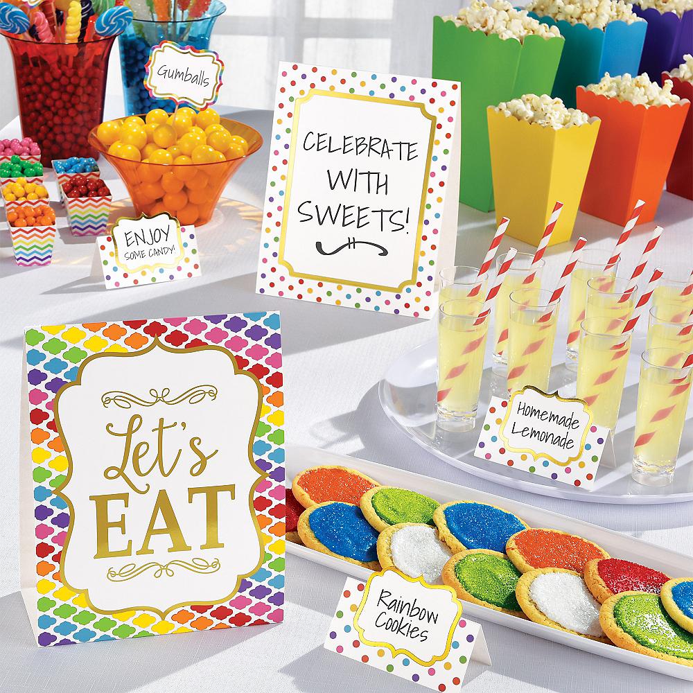 Bright Rainbow Buffet Decorating Kit 12pc Image #2