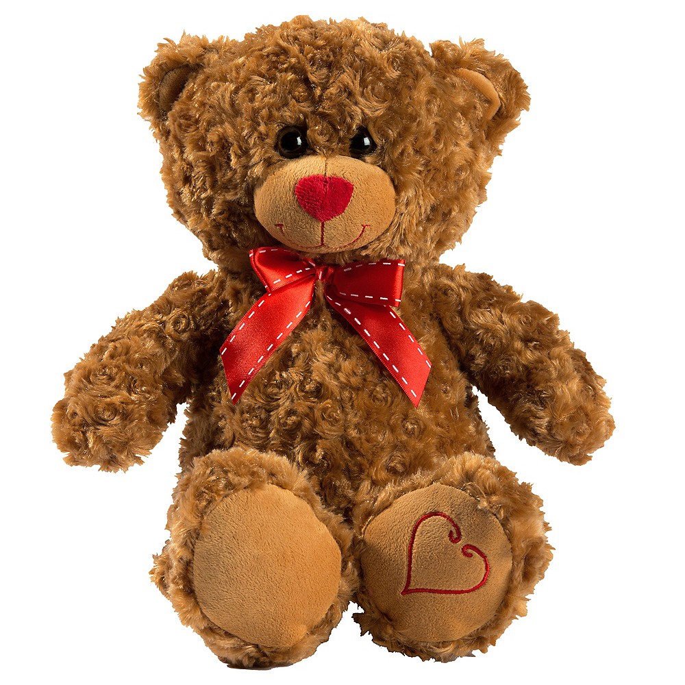 Brown Bow Teddy Bear Plush Image #1