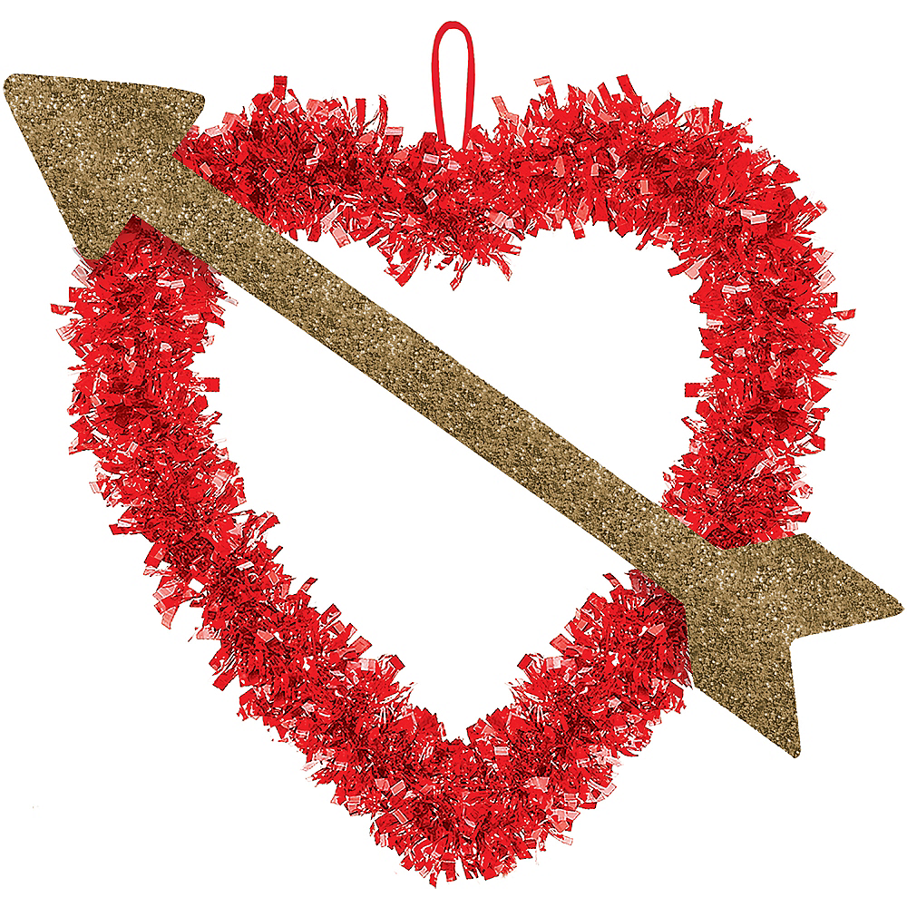 Tinsel Heart with Arrow Image #1