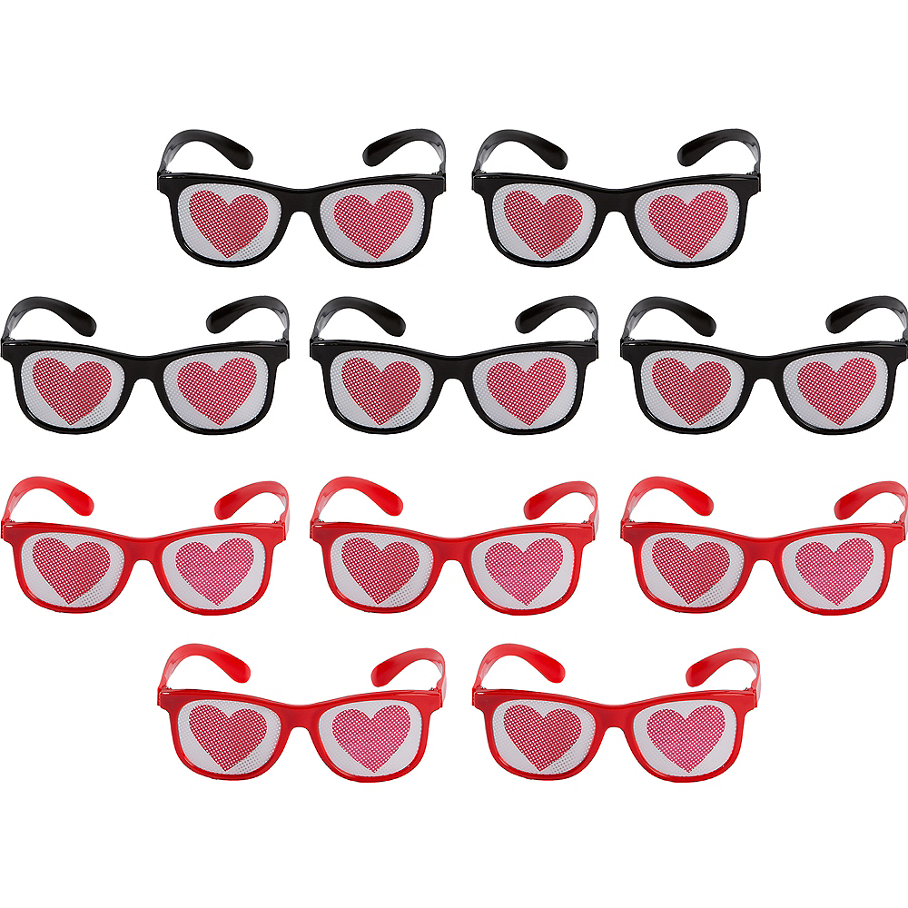 Heart Printed Glasses 10ct Image #1