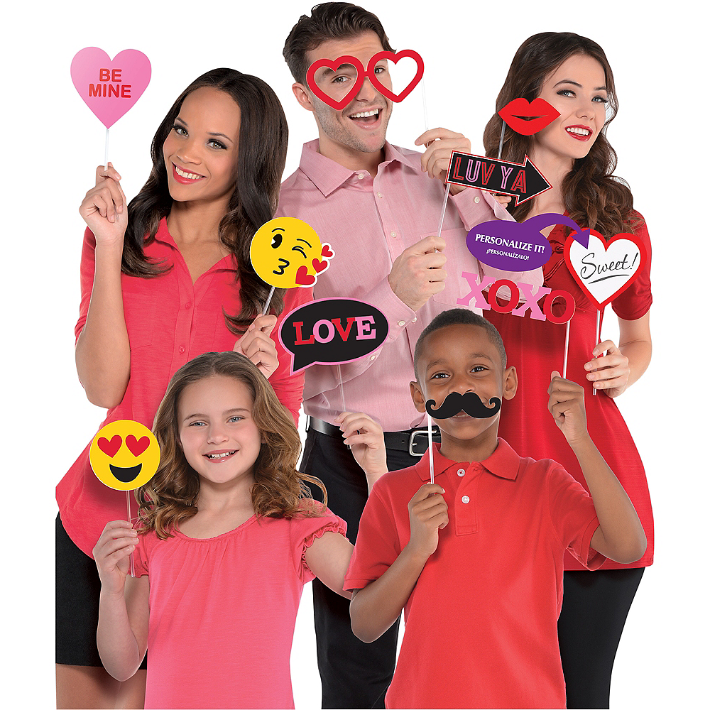 Valentine's Day Photo Booth Props 13ct Image #1