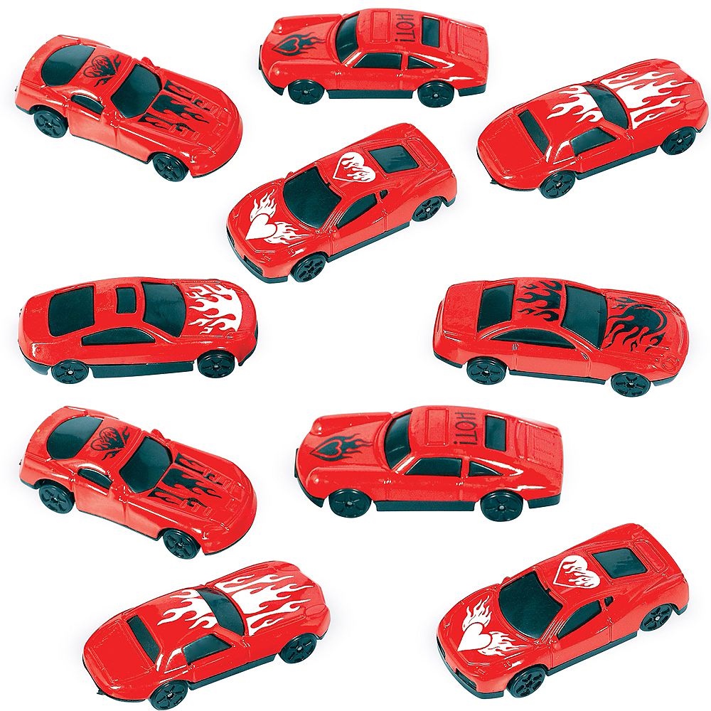 Red Race Cars 10ct Image #1