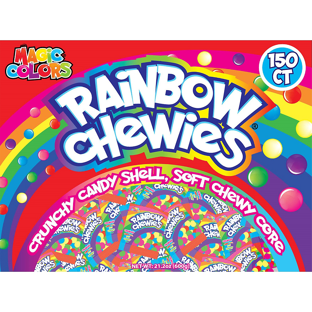Rainbow Chewies Candy Pouches 150ct Image #1
