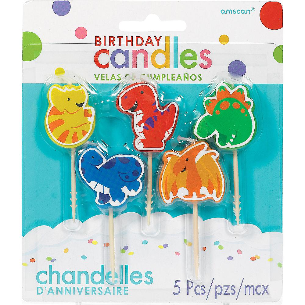 Dinosaur Birthday Toothpick Candles 5ct Image 1