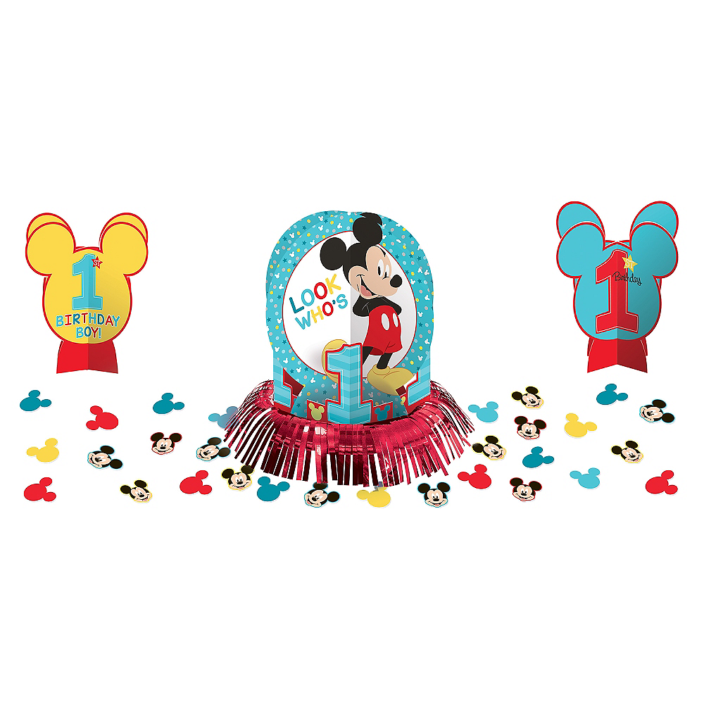 1st Birthday Mickey Mouse Table Decorating Kit 23pc Image #1