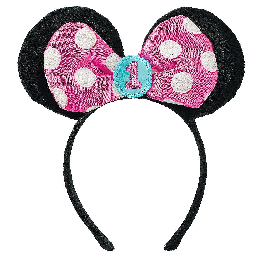 1st Birthday Minnie Mouse Ears Headband Image #1