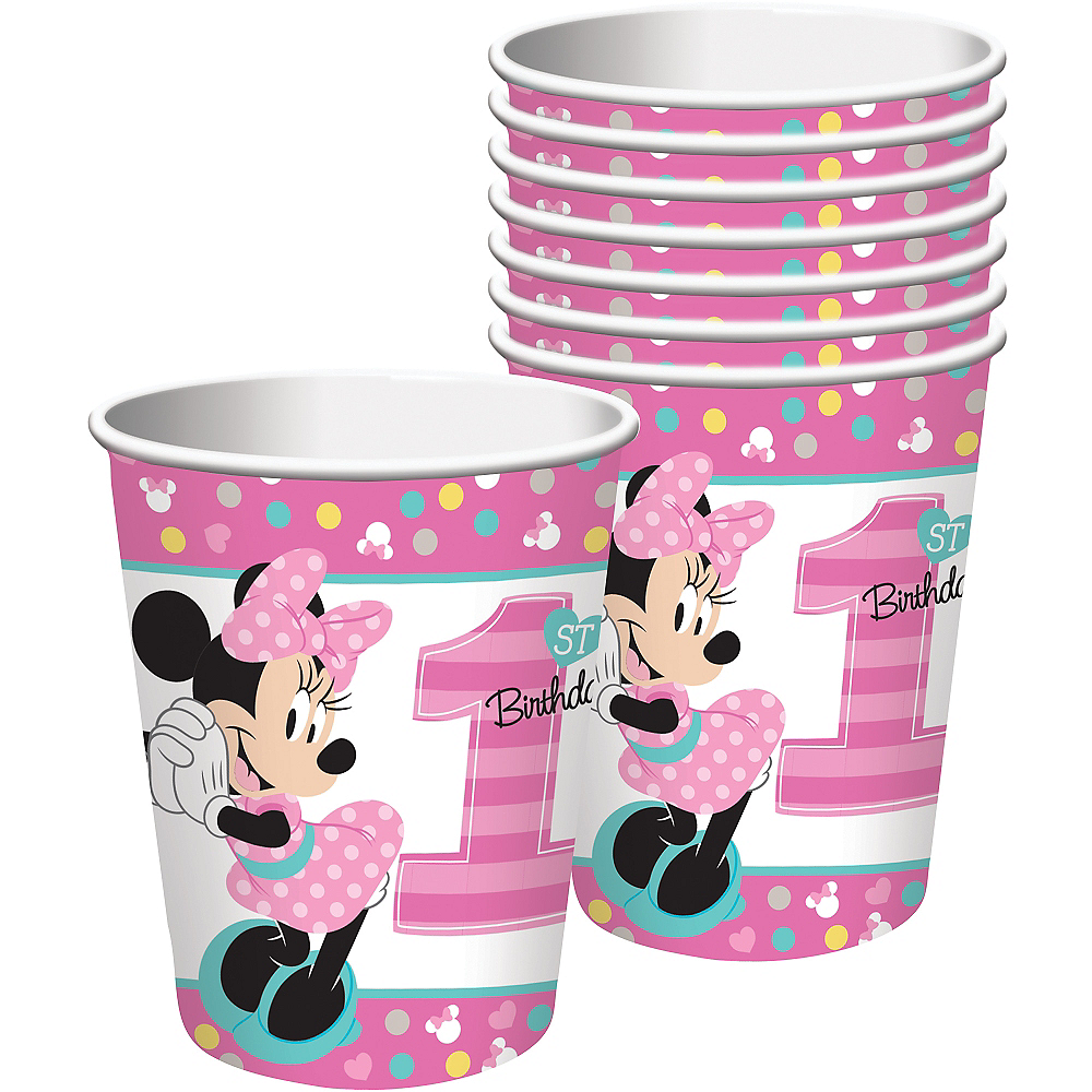 1st Birthday Minnie Mouse Cups 8ct Image #1