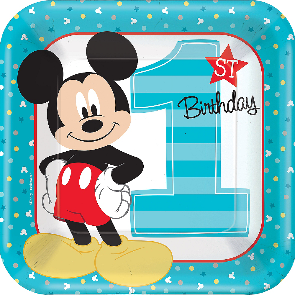 1st Birthday Mickey Mouse Lunch Plates 8ct Party City Canada