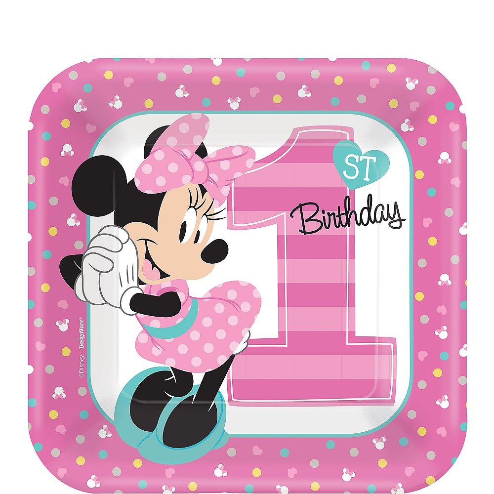 Minnie Mouse 1st Birthday: 1st Birthday Minnie Mouse Dessert Plates 8ct