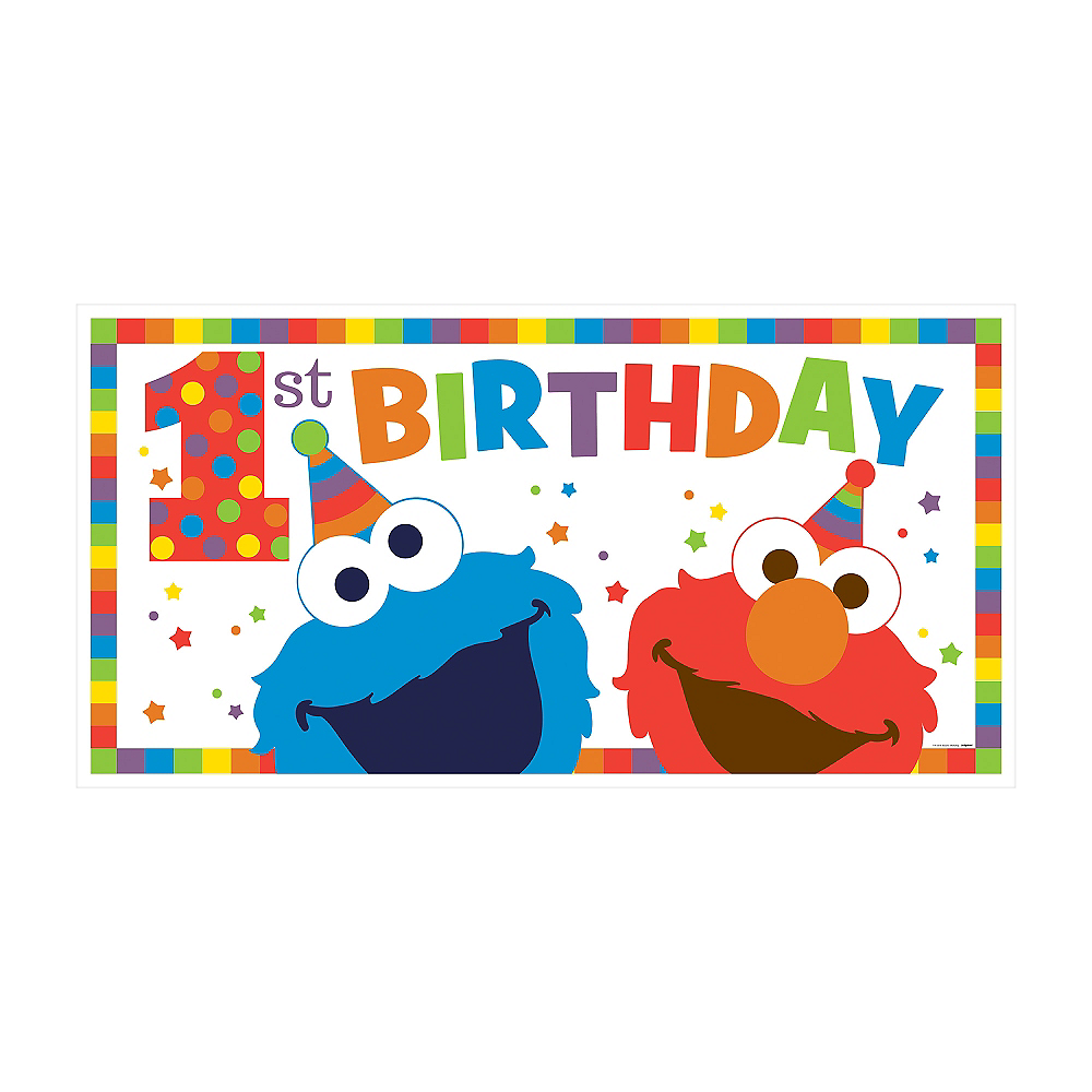 Nav Item for 1st Birthday Elmo Banner Image #1