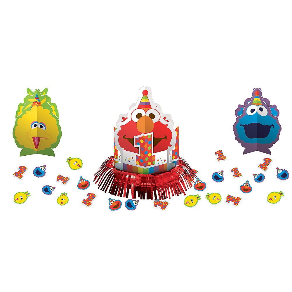 1st Birthday Elmo Table Decorating Kit 23pc Image 1