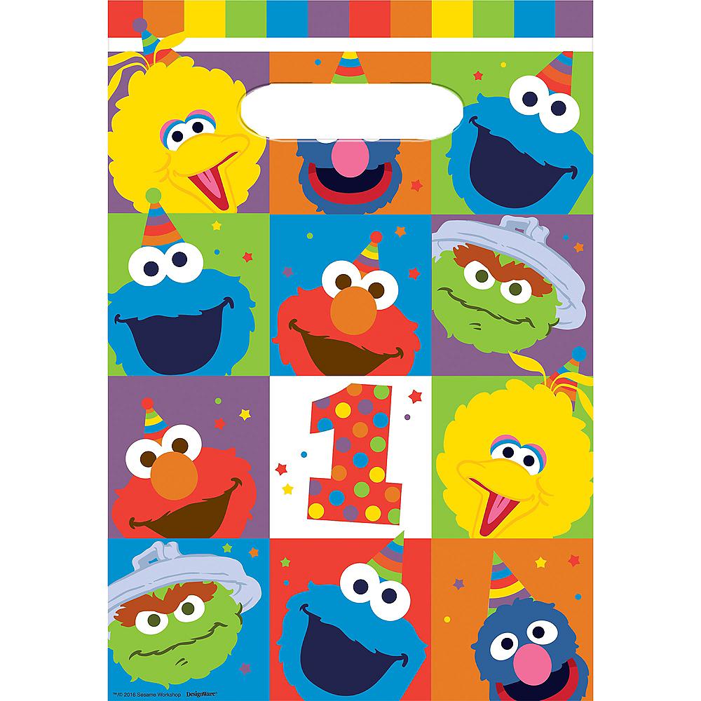 1st Birthday Elmo Favor Bags 8ct Image #1