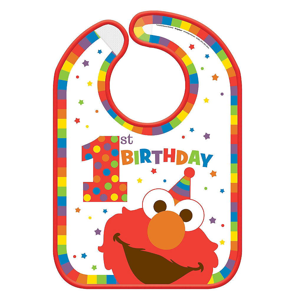 1st Birthday Elmo Bib Image 1