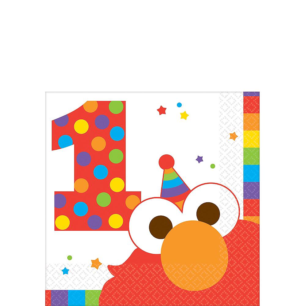 1st Birthday Elmo Beverage Napkins 16ct Image #1