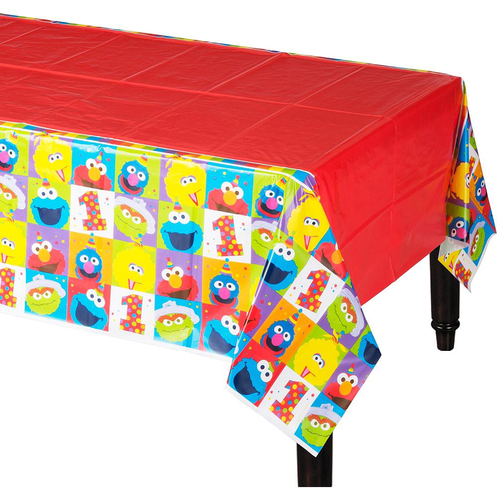 1st Birthday Elmo Table Cover Image #1