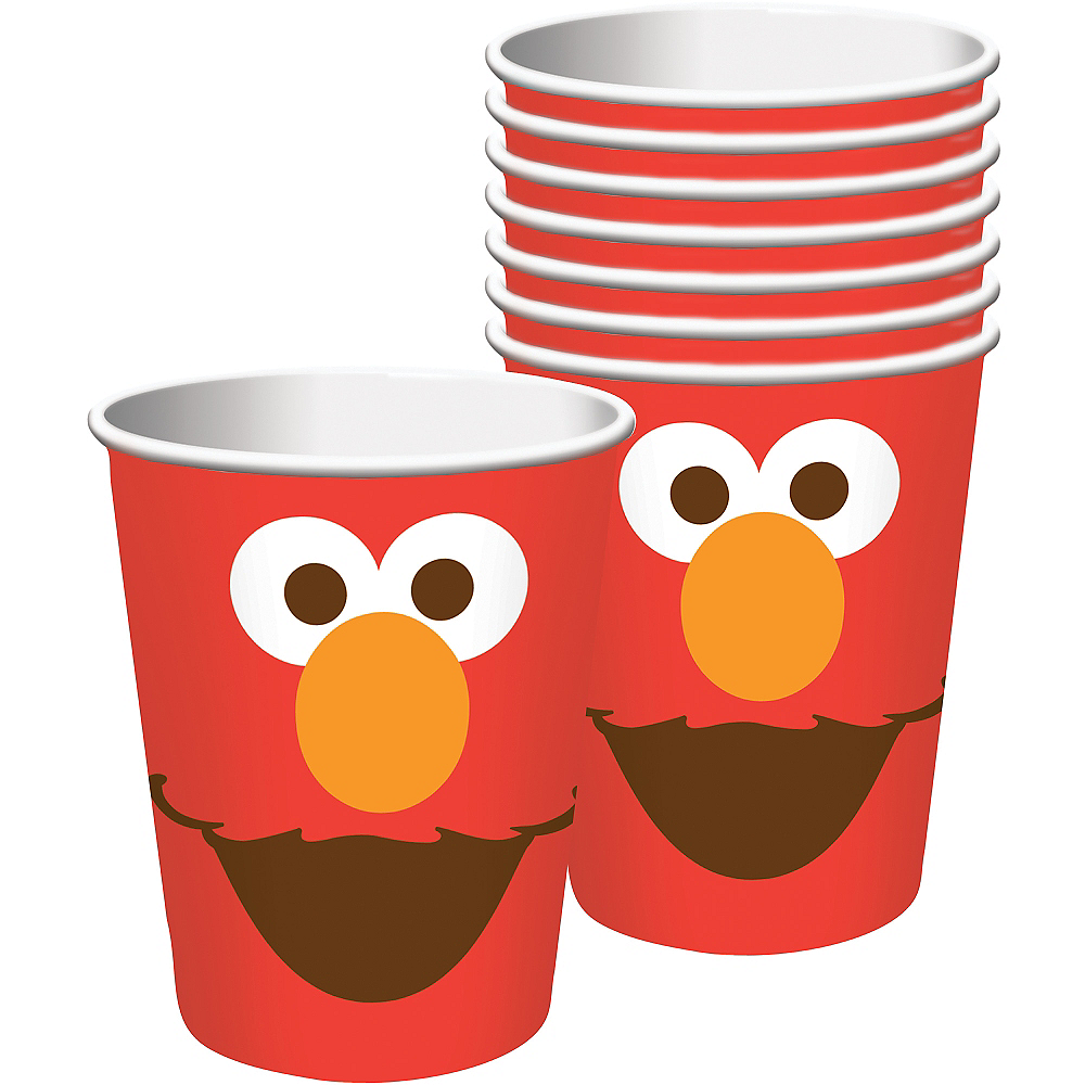 Elmo Cups 8ct Image #1