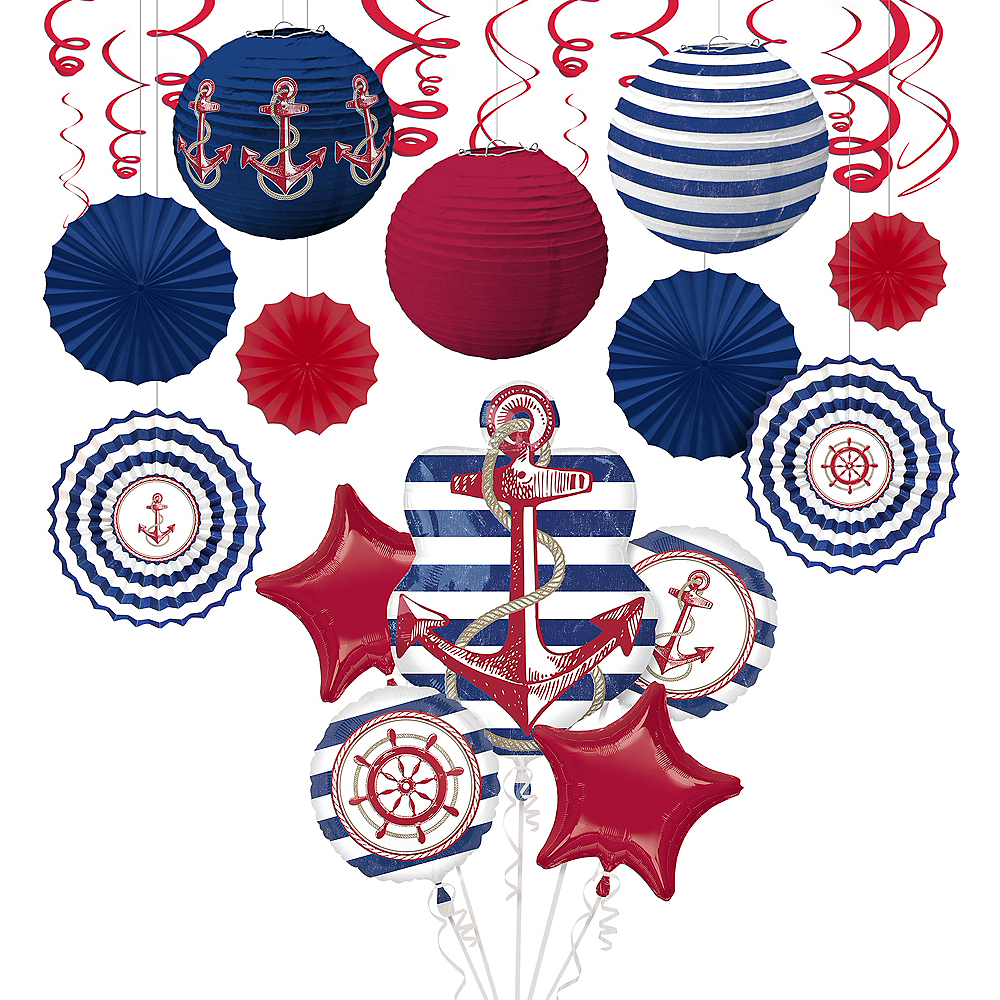 Nautical Theme Decorating Kit | Summer Decorations | Party City
