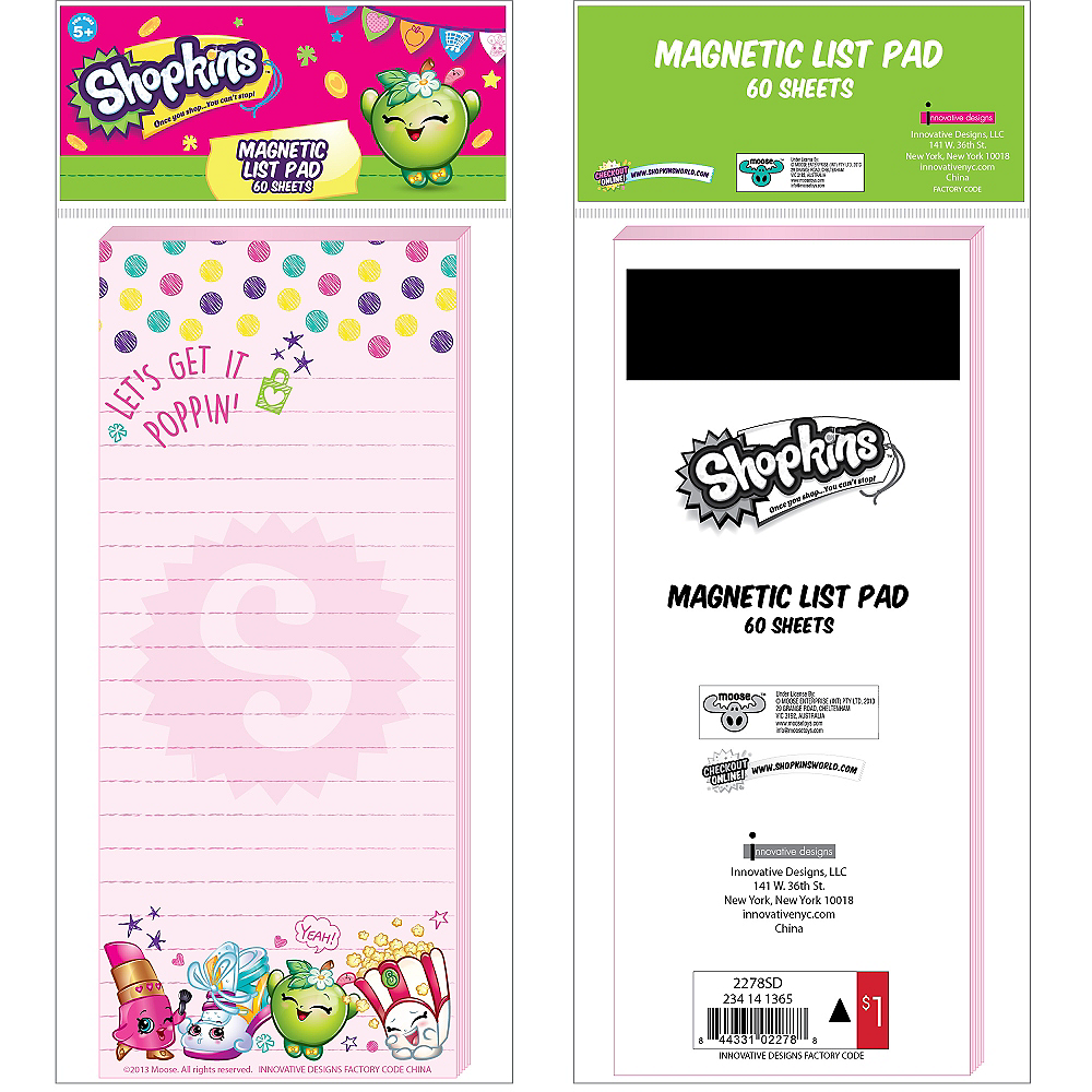 Magnetic Shopkins Notepad Image #2
