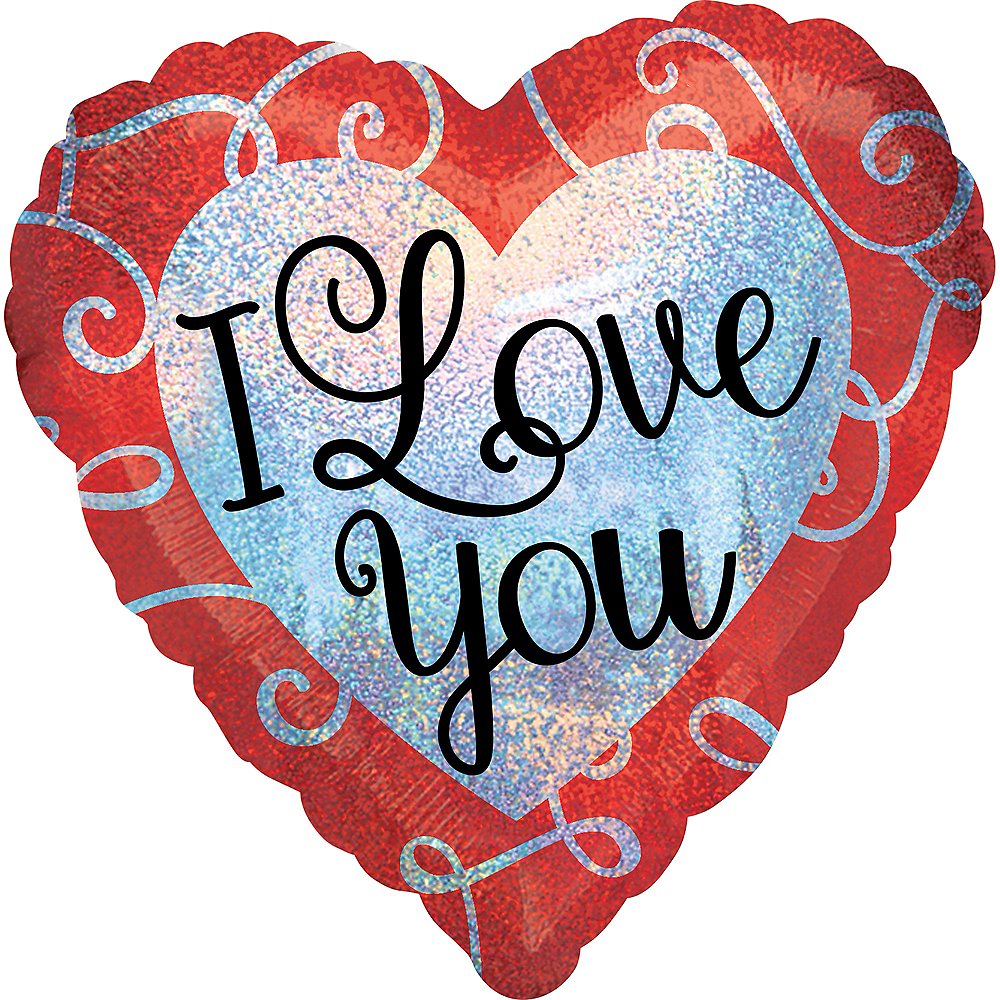 Prismatic I Love You Valentine's Day Heart Balloon Image #1