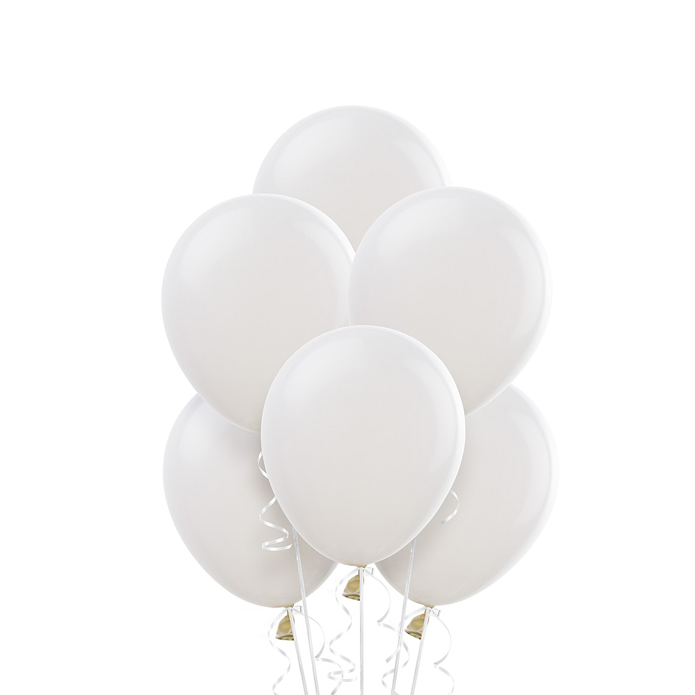 White Balloons 20ct, 9in Image #1