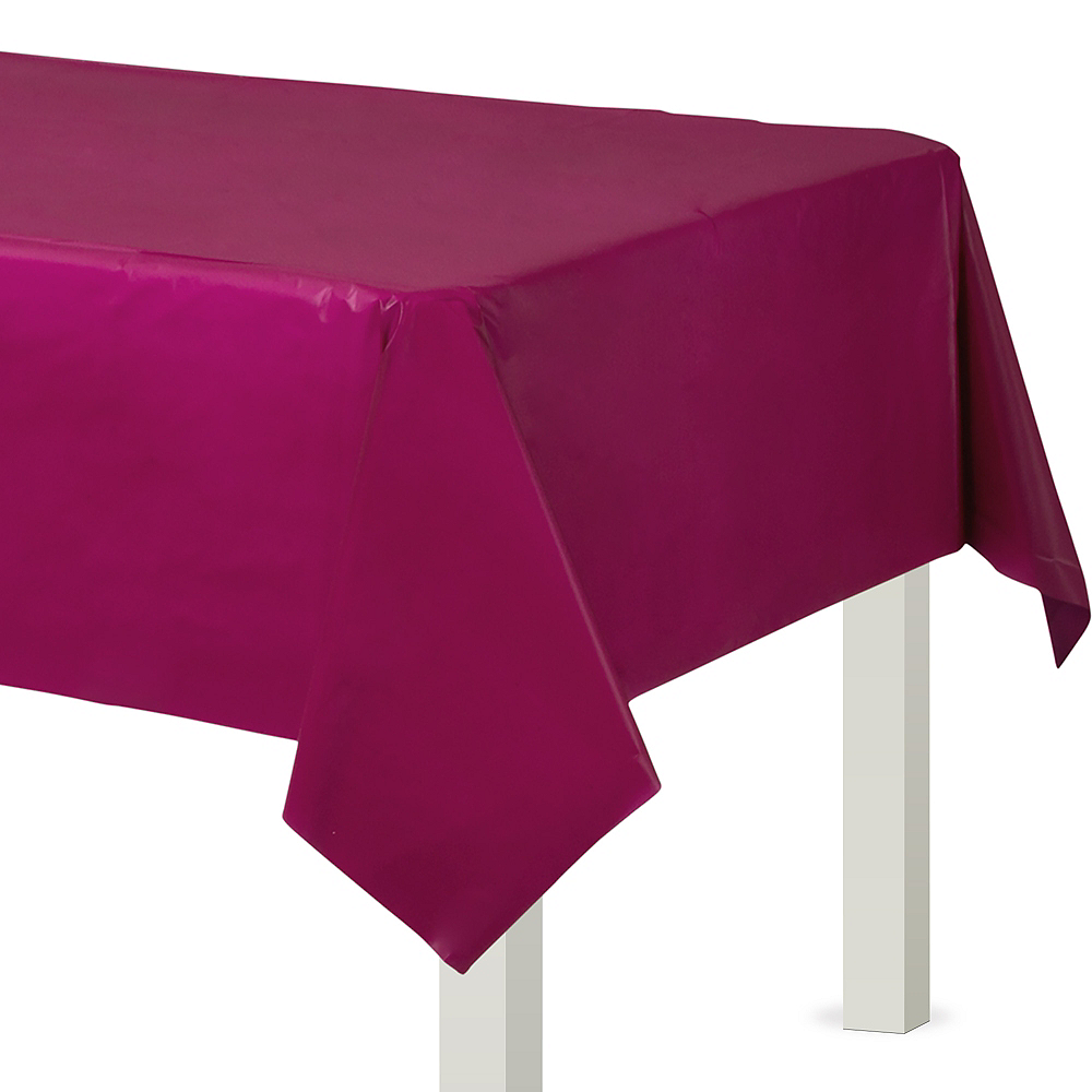 Berry Plastic Table Cover Image #1