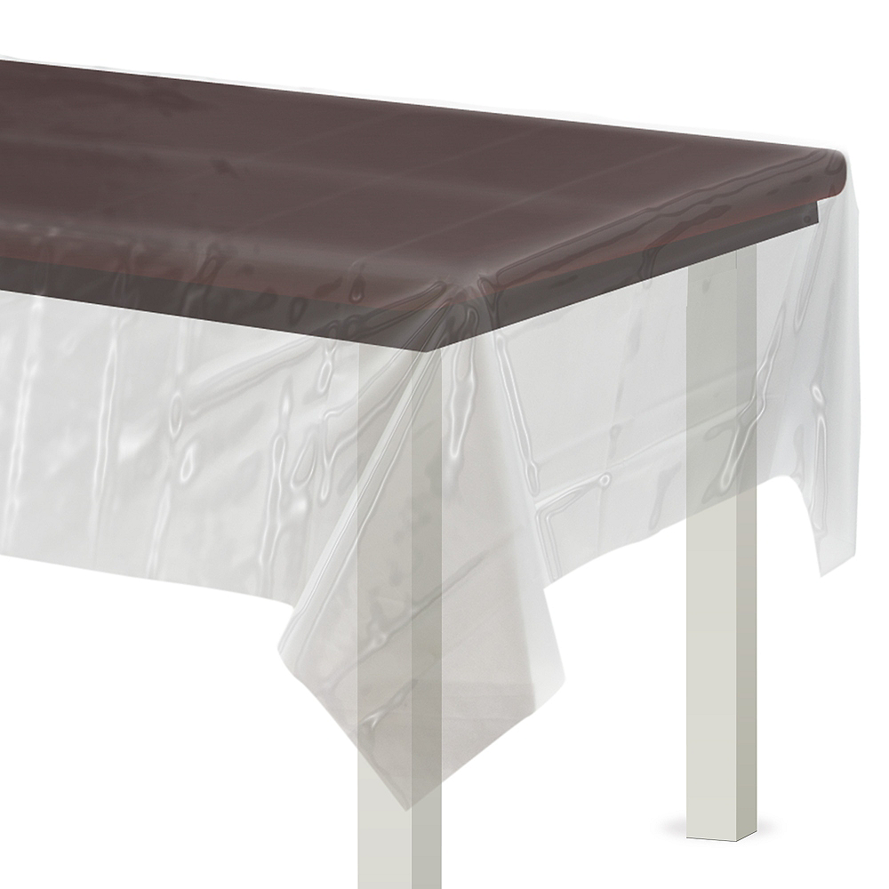 Clear Plastic Table Cover Image 1