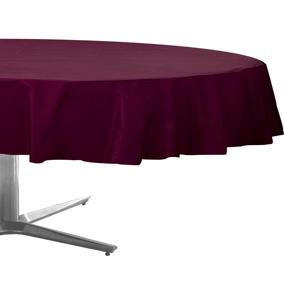 Berry Plastic Round Table Cover Image #1