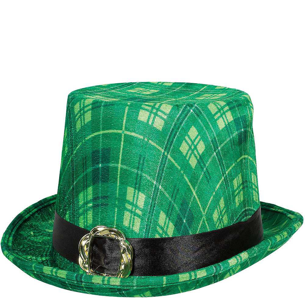 Green Plaid Top Hat Image #1