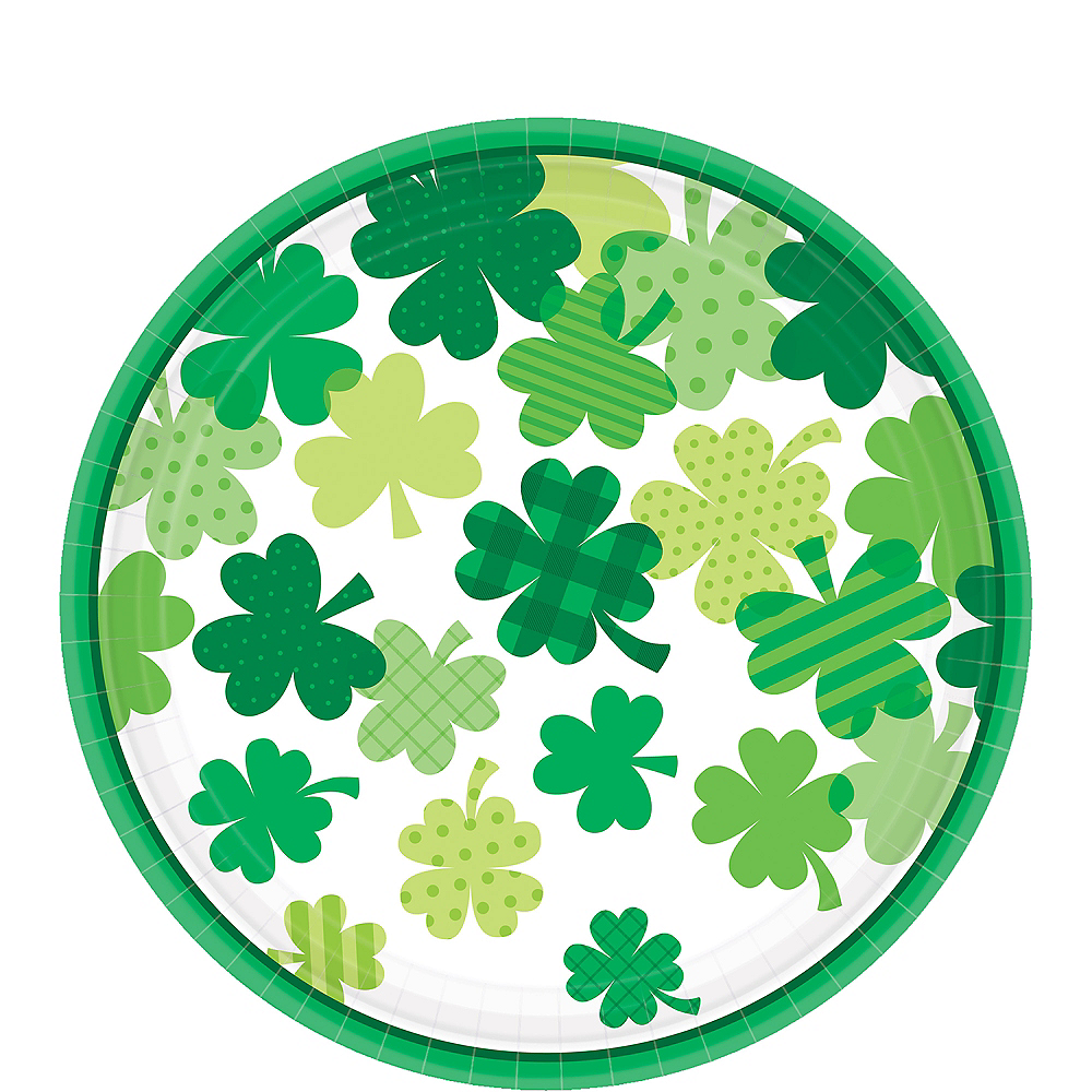 Blooming Shamrock Lunch Plates 18ct Image #1