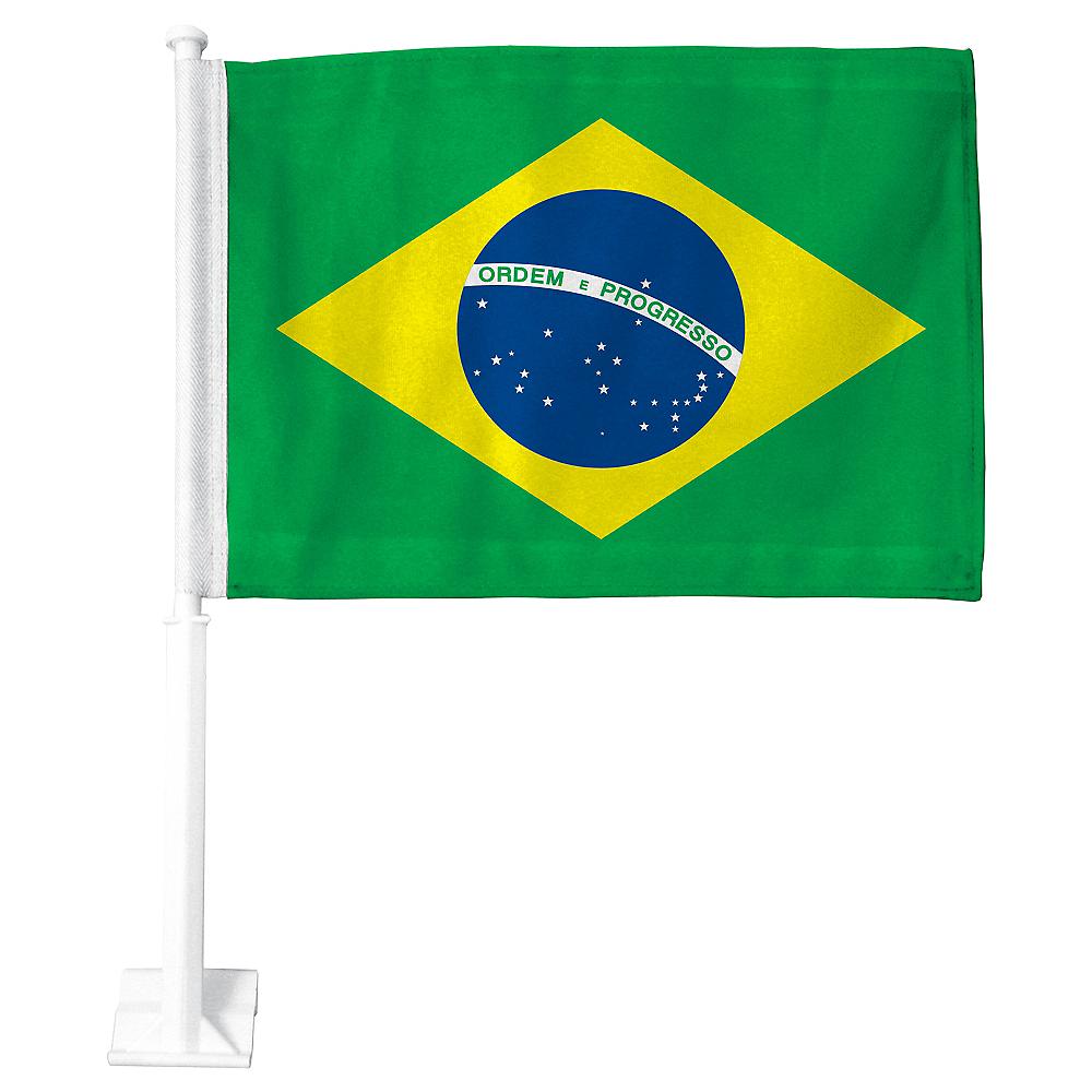 Brazilian Flag Car Flag Image #1