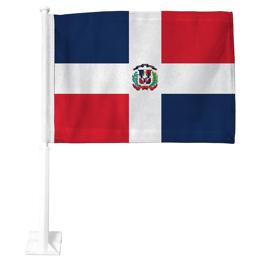 Dominican Flag Car Flag Image #1