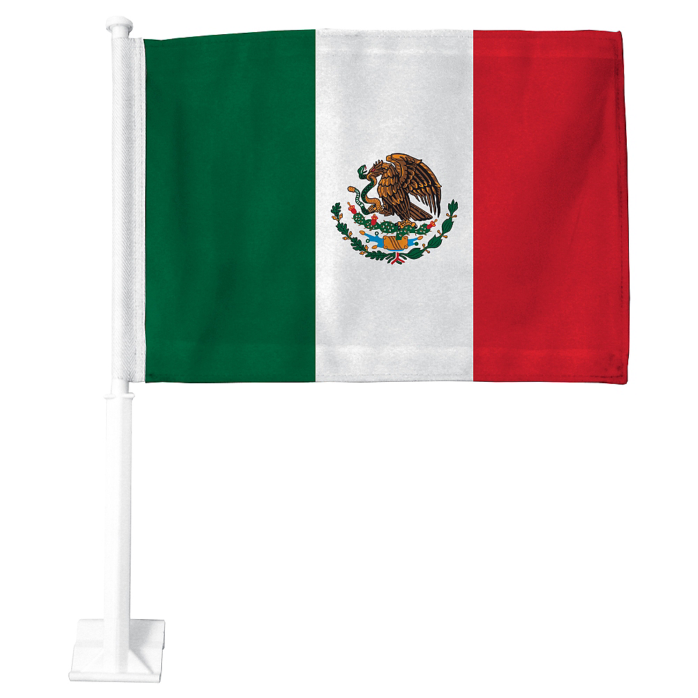 Mexican Flag Car Flag Image #1