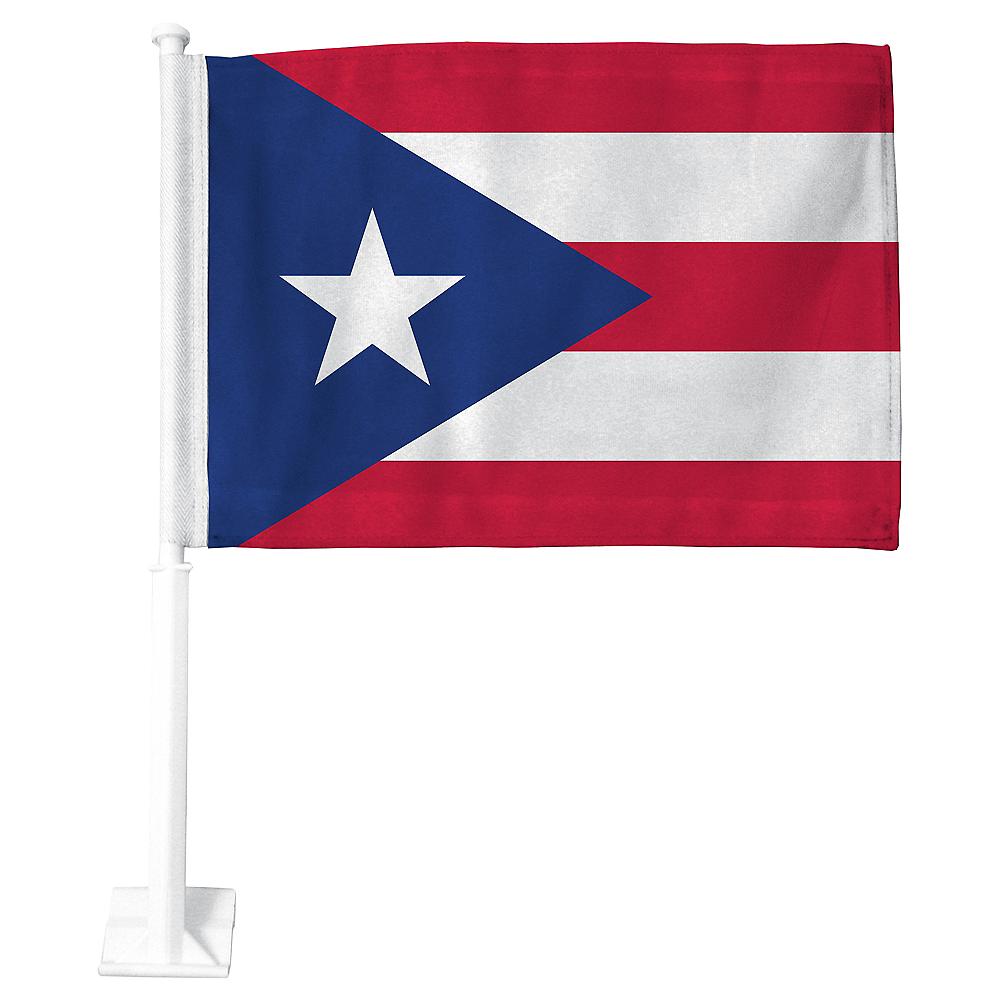Puerto Rican Flag Car Flag Image #1