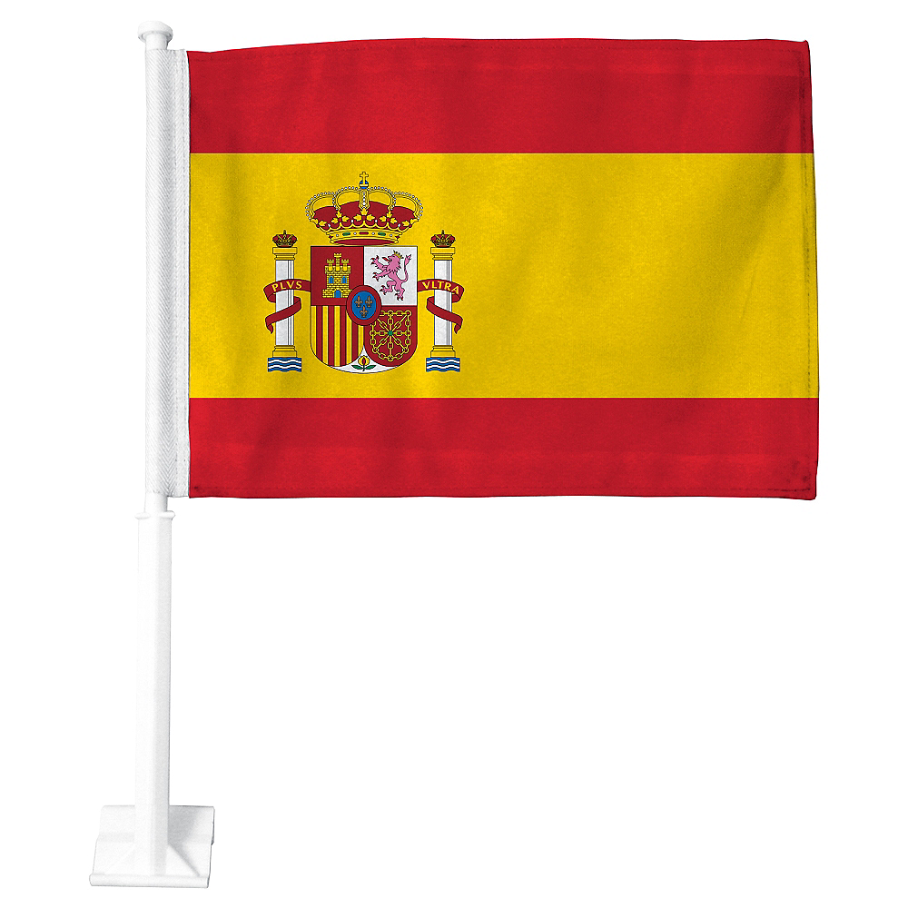 Spanish Flag Car Flag Image #1
