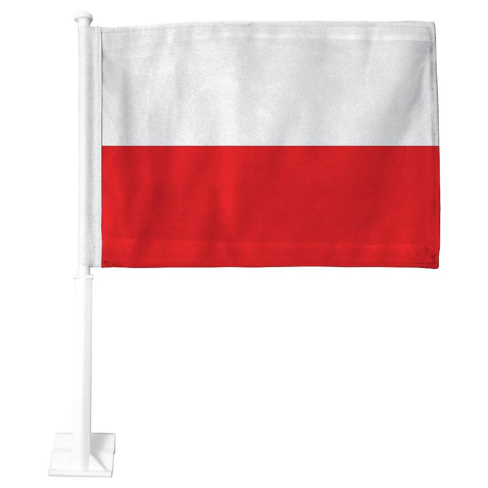 Polish Flag Car Flag Image #1