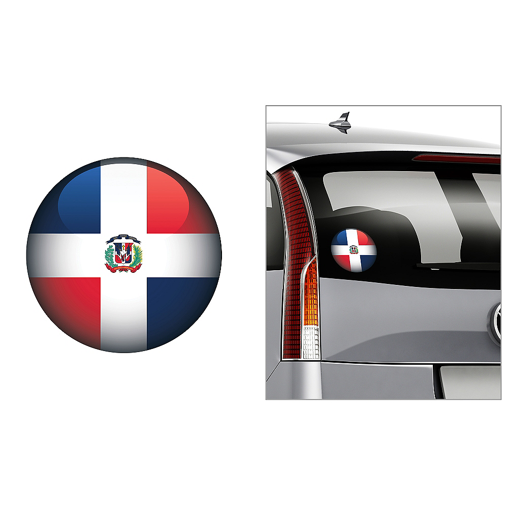Nav Item for Dominican Flag Decal Image #1