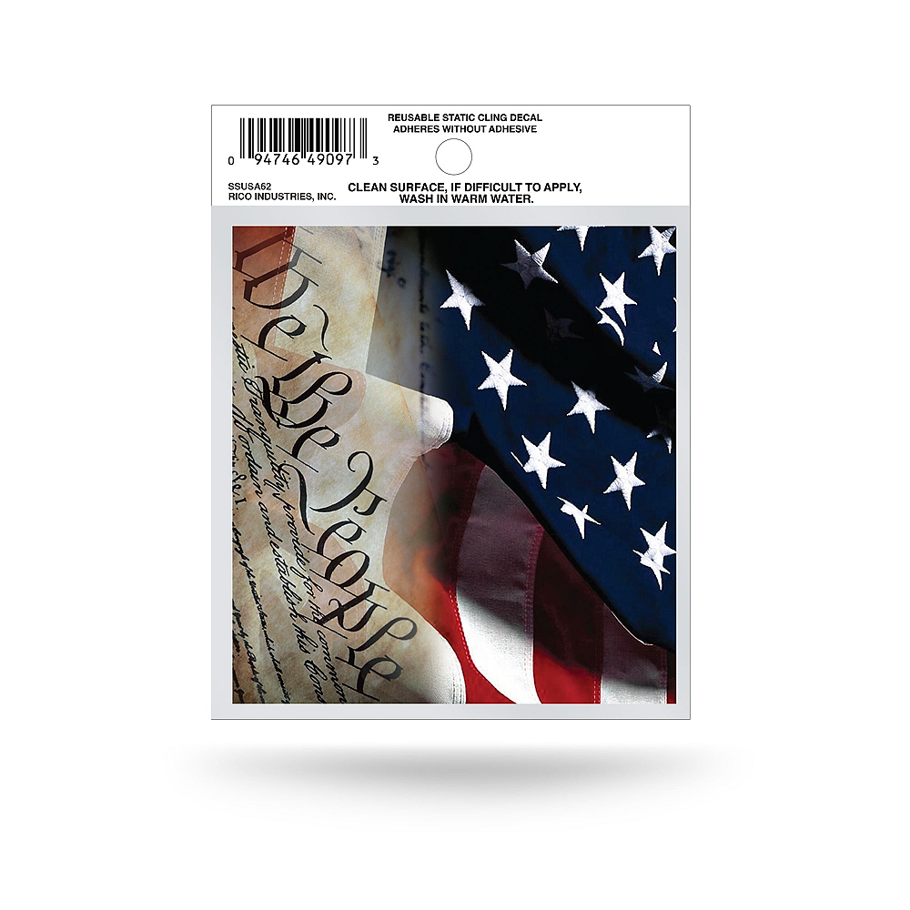 American Flag Cling Decal Image #1