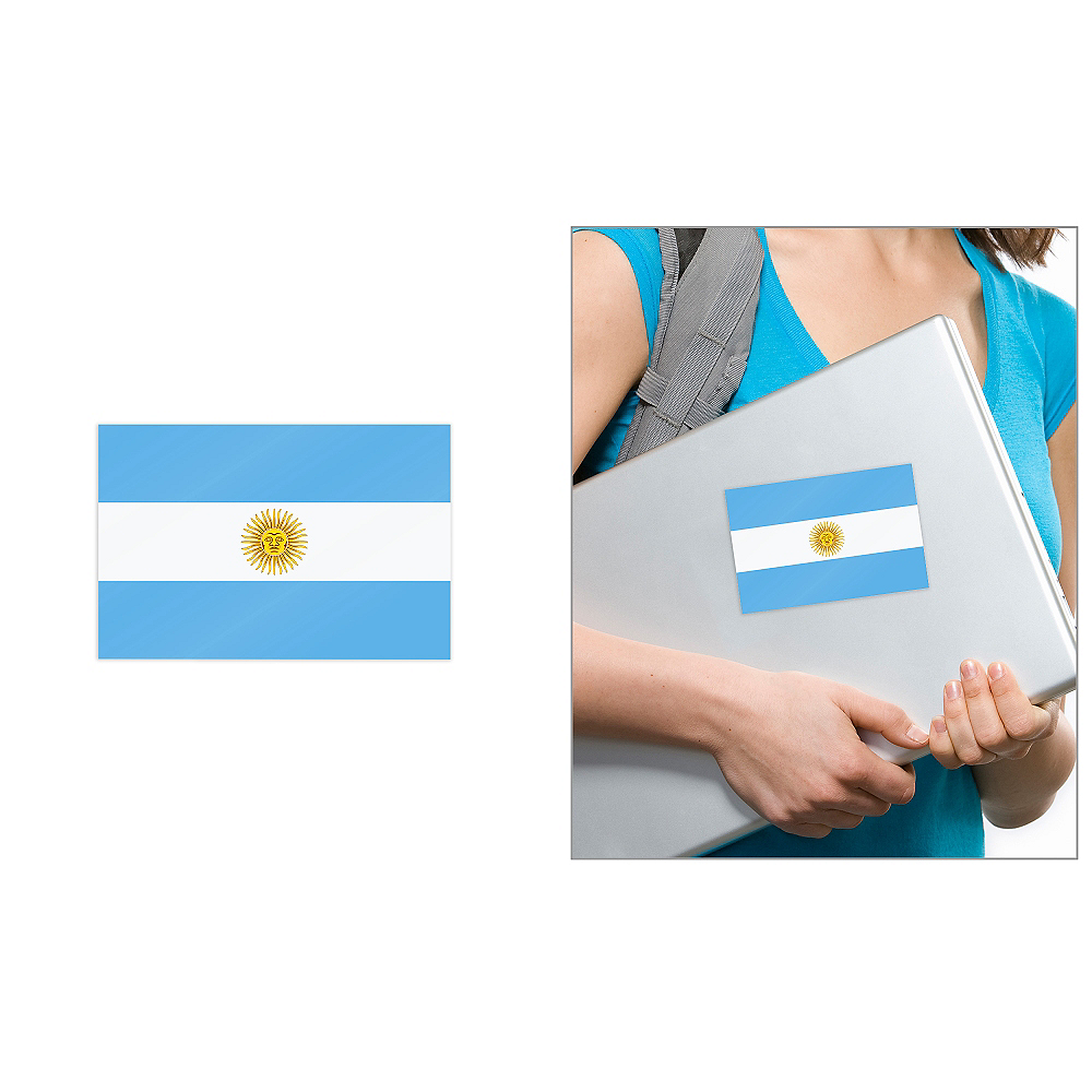 Argentinian Flag Cling Decal Image #1