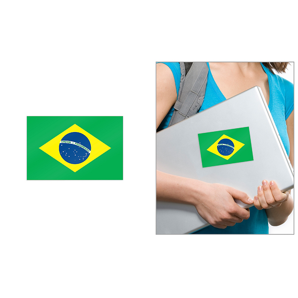 Brazilian Flag Cling Decal Image #1