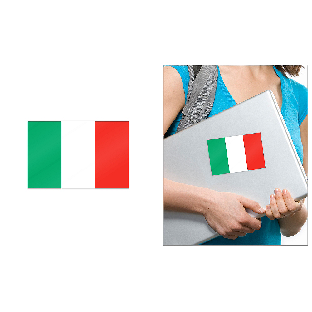Italian Flag Cling Decal Image #1