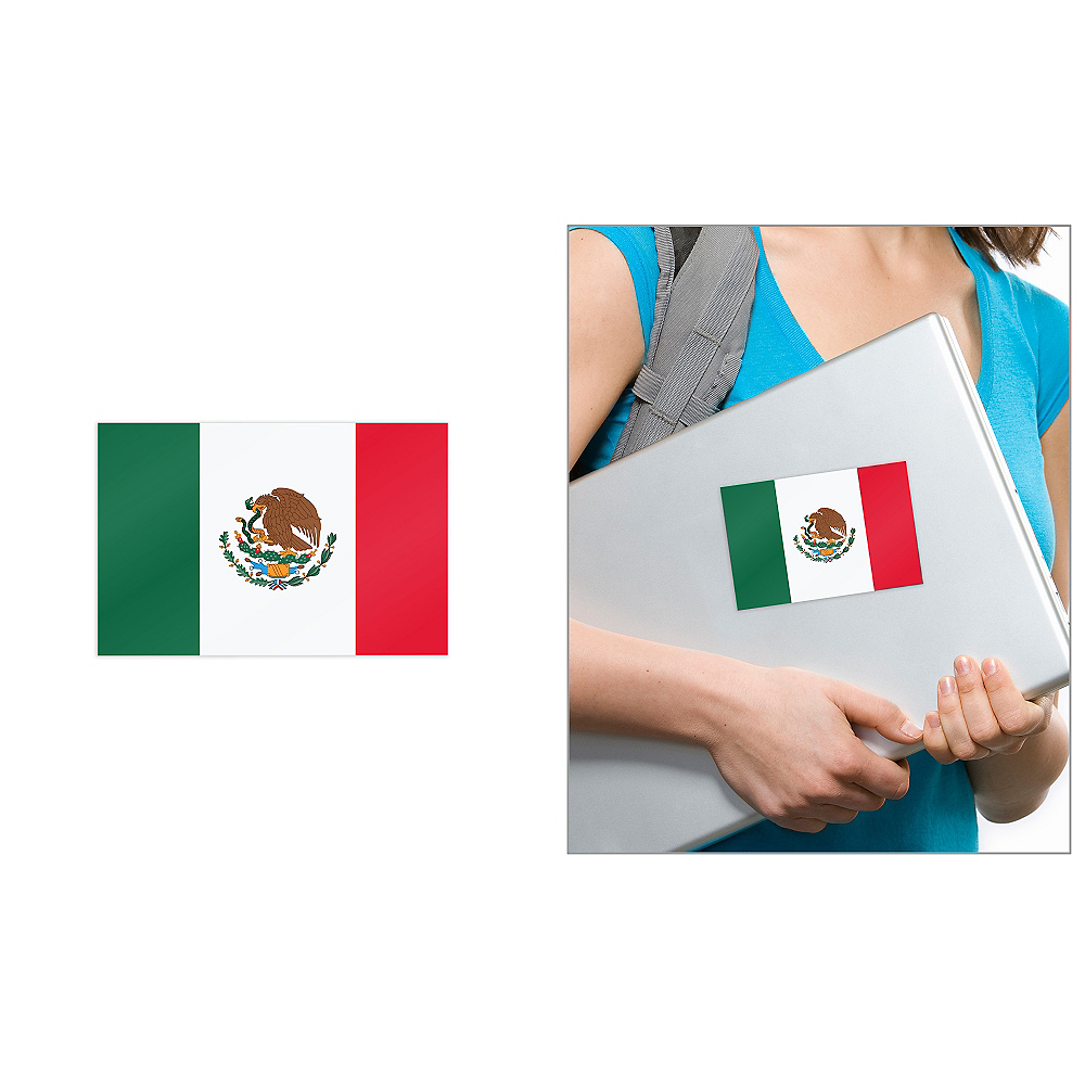 Mexican Flag Cling Decal Image #1