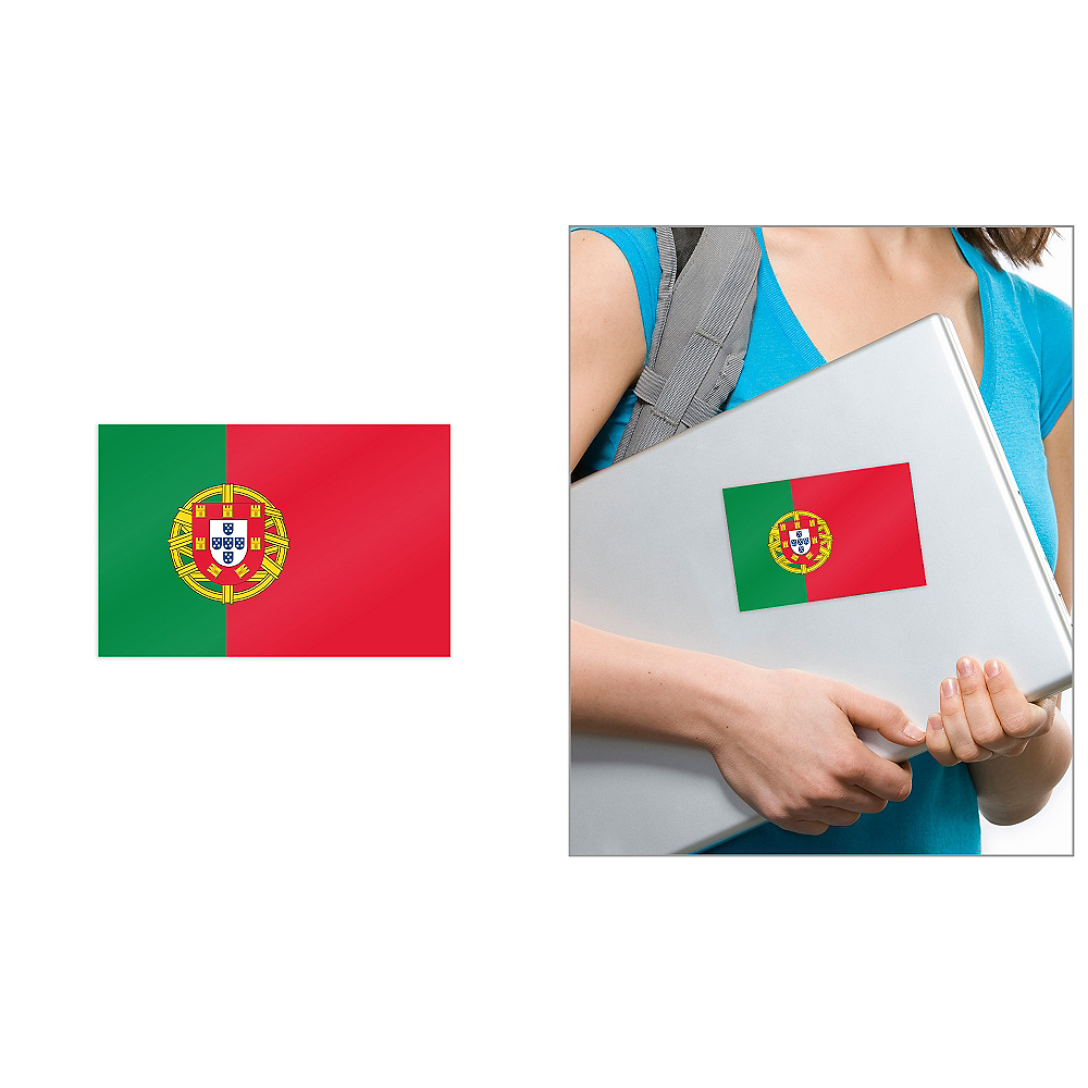 Portuguese Flag Cling Decal Image #1