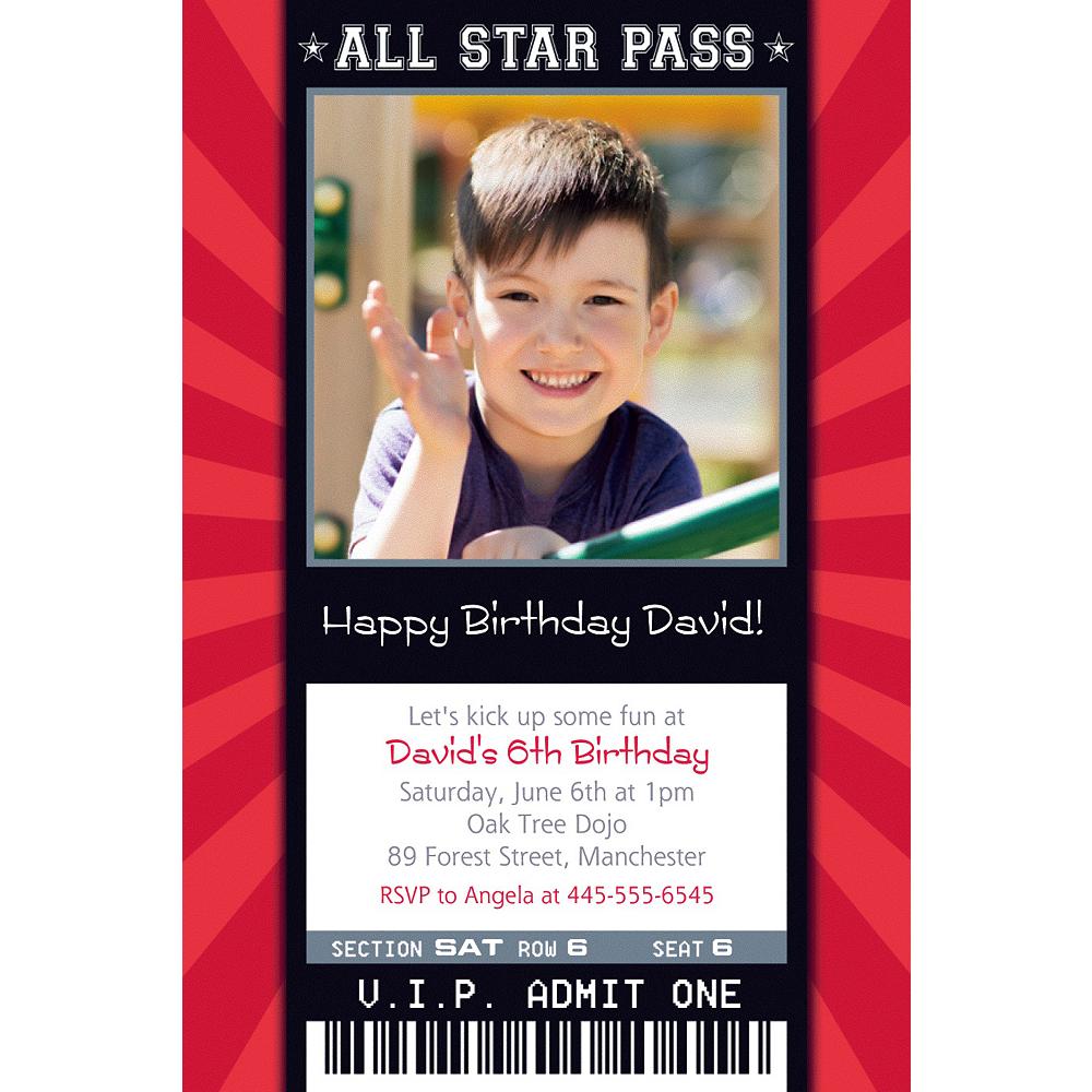 Custom Karate Ticket Photo Invitation Image #1